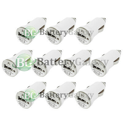 10 USB Travel Battery Car Charger Mini for Apple iPhone / Android Cell Phone
