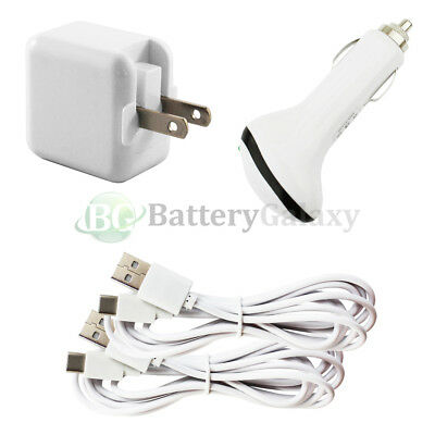 2 USB 6FT Type C Cord+Car+FAST Wall Charger for Motorola Moto Z/Force/Play Droid