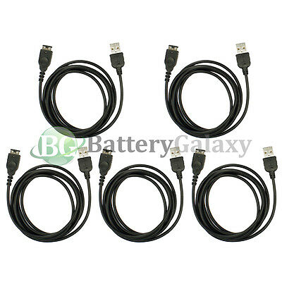 5 NEW USB Battery Charger Cable Cord for Nintendo DS NDS Gameboy Advance GBA SP