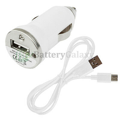 USB Type C Cable+Car Charger Mini for Motorola Moto Z / Z Force / Z Play Droid