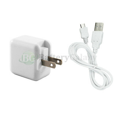 NEW Wall Charger+USB Micro Data Cable for Android Barnes Noble Nook Color HD HOT