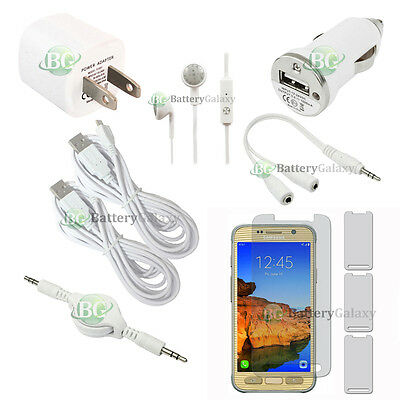 10pc NEW 2X USB 10' Cable+2X Charger+Headset for Phone Samsung Galaxy S7 Active