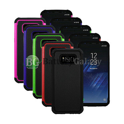 Lot of 5 Black/Blue/Green Hybrid Rubber Case Cover for Android Samsung Galaxy S8