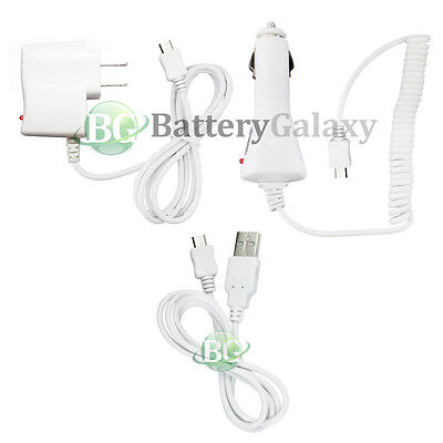 USB Cable+Car+Wall Charger for Android Phone Samsung Galaxy S3 S4 S5 Mini Active