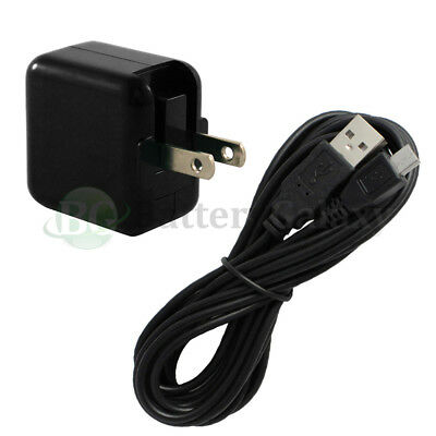 10FT USB Micro Cable+RAPID Wall Charger for Samsung Galaxy Tab 3 7.0 8.0 10.1