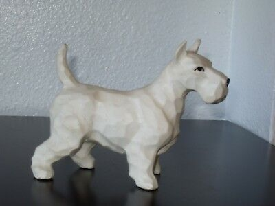 White Porcelain Ceramic Scotty Dog Figurine