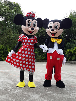 Adult Mickey Mouse Mascot Costume Christmas Cosplay Disney Character Fancy Dress & LIGHT BLUE Suit Mickey Mouse Mascot Costume Cartoon Character ...