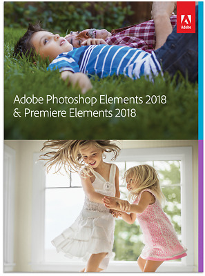 Adobe Photoshop Elements 2018 & Premiere Elements 2018 PC or MAC Full License