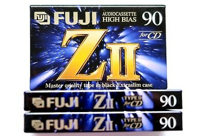 3 X Fuji Zii 90 Master Quality High Bias Type Ii Blank Audio Cassettes - Japan