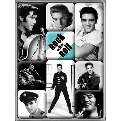 9-teiliges Magnet Set Hollywood Elvis Presley Retro Style