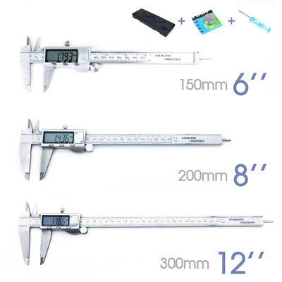 150/200/300mm Vernier Caliper LCD Electronic Digital Gauge Stainless Micrometer