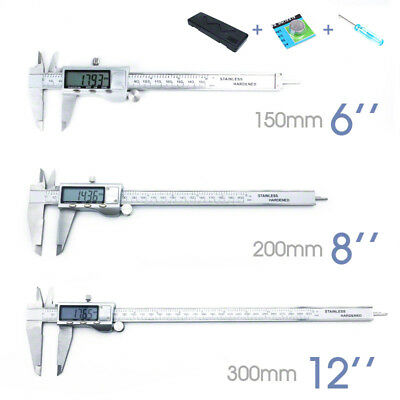 Vernier Caliper LCD Electronic Digital Gauge Stainless Micrometer ozstock