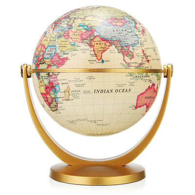 World Globe Earth Vintage Antique Desk Decor Geography Education New Year Gift