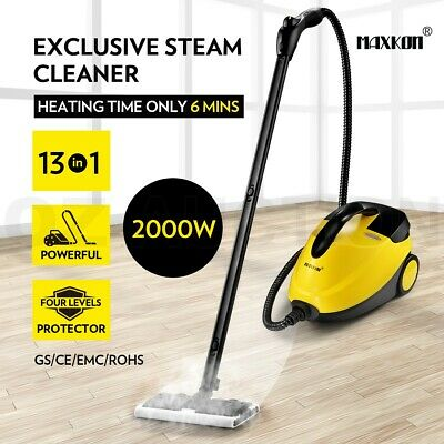 Maxkon 2000W High Pressure Carpet Floor Window Steam Cleaner Mop w/ Accessories