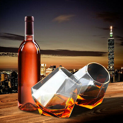 4pcs Tumbler Diamond Wine Glass Whiskey Wine Cup For Party Bar Drinkware