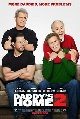 Daddy's Home 2 - original DS movie poster - 27x40 D/S  Ferrell, Wahlberg