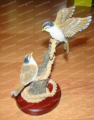 Sparrow on Wooden Stand (2005, Wildlife Birds Collection by Westland, 14509)