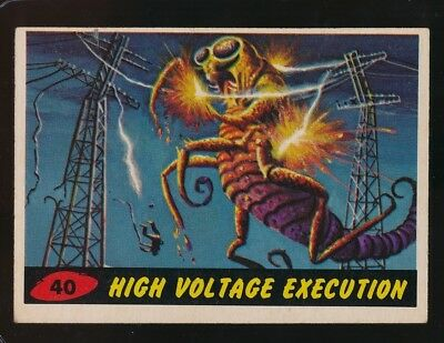 1962 Topps  Mars Attacks   Ex  Hign Voltage  Execution  #40  102717