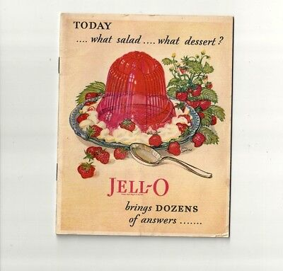 1928 Antique Collectible Exquisite JELL-O Dessert Booklet