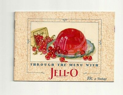 1927 Antique Collectible Exquisite JELL-O Dessert Booklet