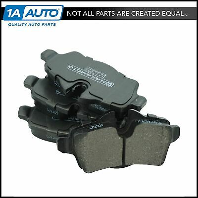 Front Rear Posi-Quiet Ceramic Brake Pads 2Set For 2014-2015 Nissan XTrail