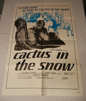 Cactus in the Snow 1972 Original One Sheet Movie Poster
