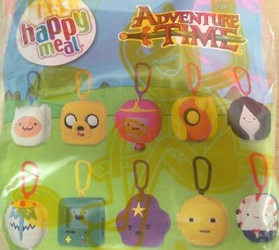 Mcdonalds Toy Adventure Time Cartoon Network Characters New in the Bag 2017