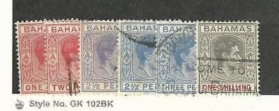 Bahamas, British, Postage Stamp, #100//110 (6 Different) Used, 1938-46