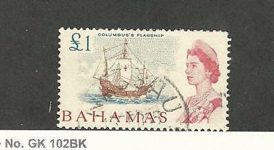 Bahamas, British, Postage Stamp, #218 Used, 1965 Columbus Ship