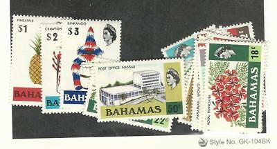 Bahamas, British, Postage Stamp, #313-330 Mint Hinged Set, 1971