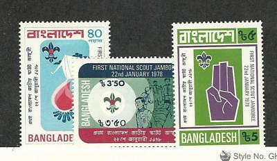 Bangladesh, Postage Stamp, #136-138 Mint Hinged, 1978