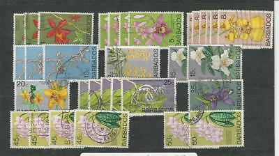 Barbados, Postage Stamp, #399//407 Dealers Stock Used Flowers (p)
