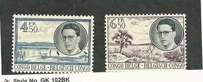 Belgian Congo, Postage Stamp, #292 Mint LH, 293 NH, 1955