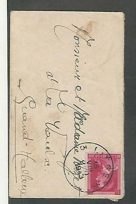 Belgium, Postage Stamp, 1943 Cover, Preventorium Stamp on Back