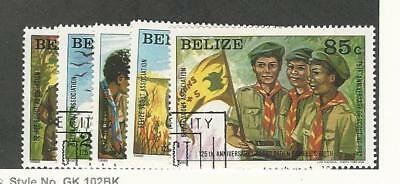 Belize, Postage Stamp, #638-642 Used, 1982 Scouting