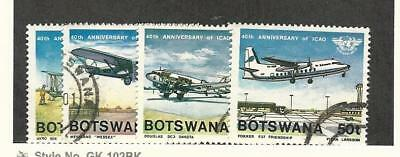 Botswana, Postage Stamp, #349-350, 353-354 Used, 1984 Airplanes