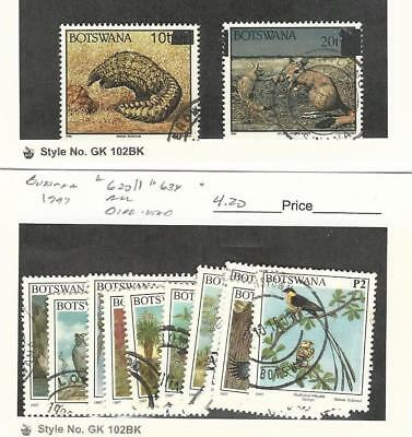 Botswana, Postage Stamp, #594A, 595, 630//634 (10 Dif) Used, 1994-7 Birds