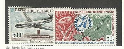 Burkina Faso, Postage Stamp, #C51-C52 Mint Hinged, 1968 Airplane