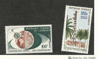 Cameroun, Postage Stamp, #C45-C46 Mint Hinged, 1963 Space