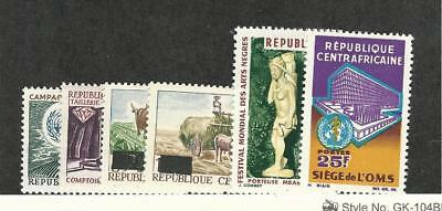 Central Africa, Postage Stamp, #61-66 Mint Hinged, 1965-66
