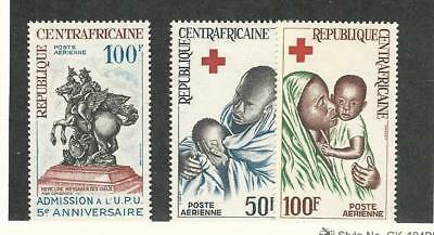 Central Africa, Postage Stamp, #C32-C34 Mint Hinged, 1965 Red Cross, UPU
