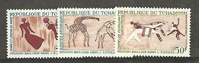 Chad, Postage Stamp, #148-150 Mint Hinged, 1967 Animals