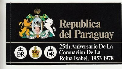 Paraguay: 25th Anniversary of Coronation QEII special stamp Booklet. MUH. Rare