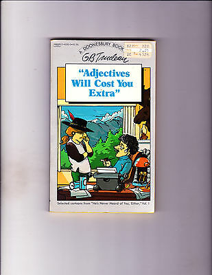 "Adjectives Will Cost You Extra 1982-Strip Reprints Paperback-"" Doonesbury Book """
