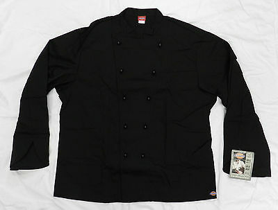 Executive Chef Coat 48 Dickies CW070302 Restaurant Uniform Jacket Black New