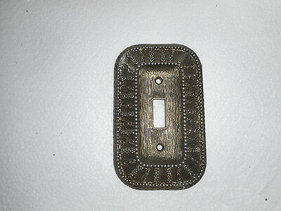 Vintage 1968 American Tack & Hardware Metal Decorative Light Switch Cover 50T