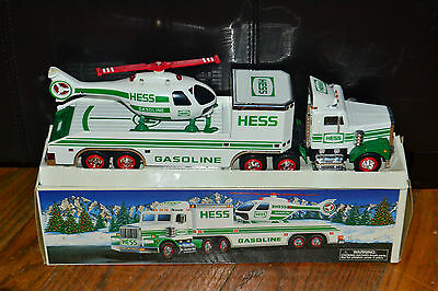 1995 Hess Truck & Trailer with Rescue Helicopter in Original Box