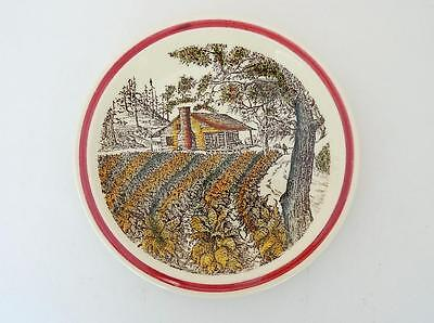 Vernon Kilns California Art Pottery Bits of the Old South Tobacco Field Plate EX