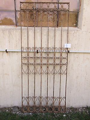 Antique Victorian Iron Gate Window Garden Fence Architectural Salvage #857