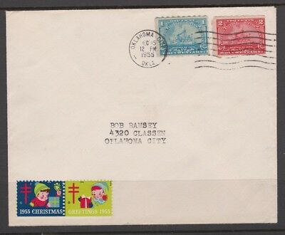 US Scott # R163 and R164 DOCUMENTARY Revenue Stamps used as Postage on Cover